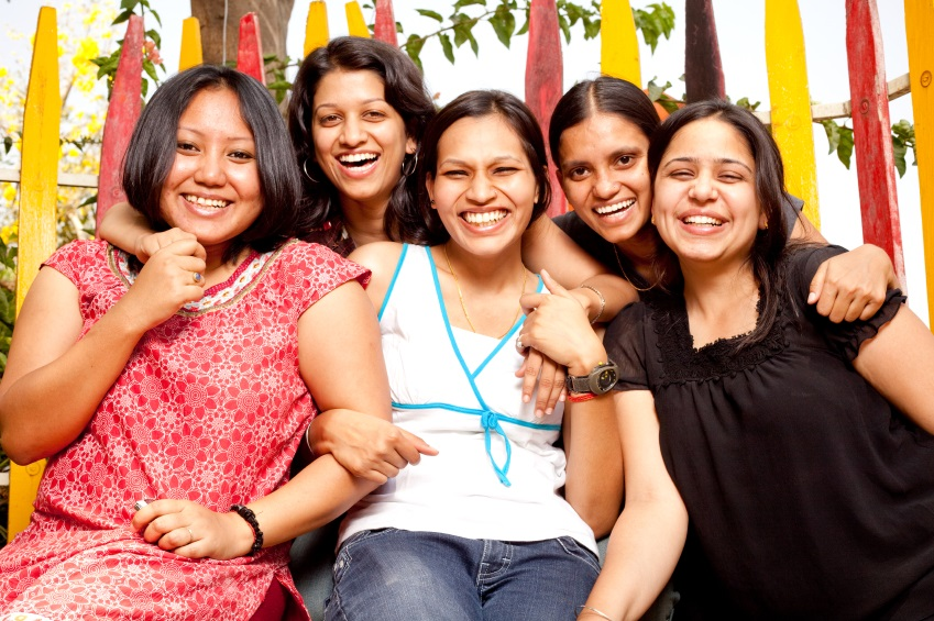 Friends - Young Cheerful Indian Girls