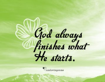Loving on Me Inspiration – Let Go and Let God