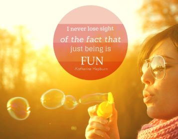Loving on Me Inspirational Quote: Slow Down and Have Fun