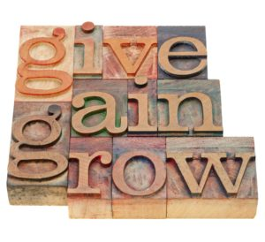 give, gain and grow