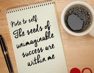 Note to Self: Sow the Seeds of Success
